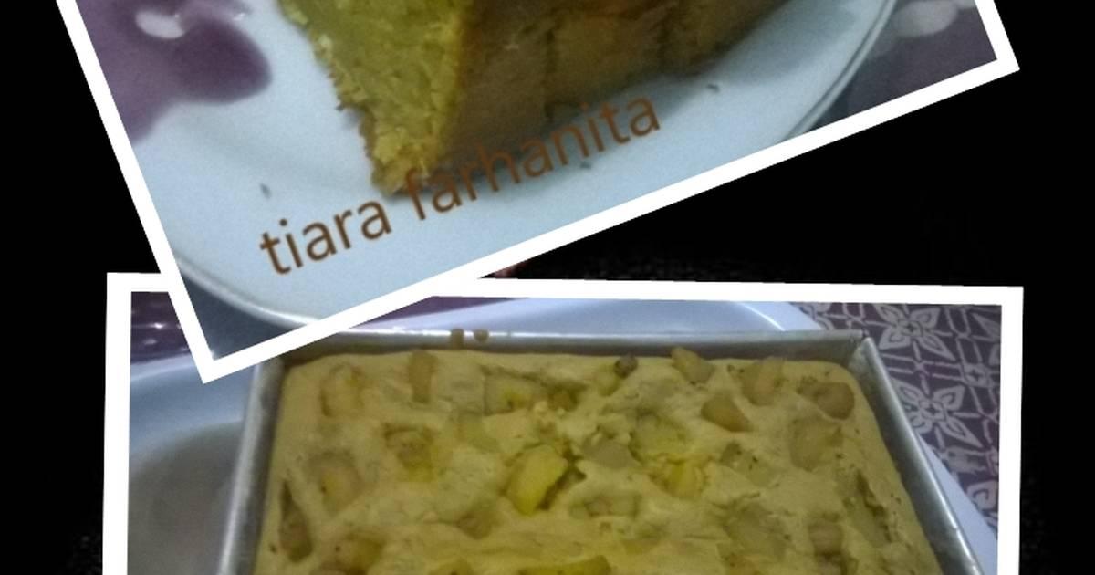 Resep Bolu ubi kuning nan legit with pisang saba