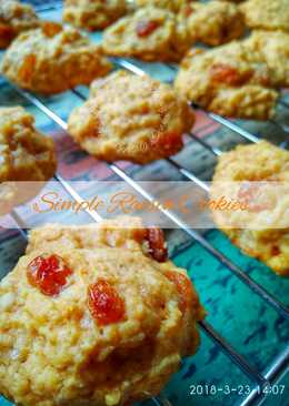 Simple Raisin Scone Cookies