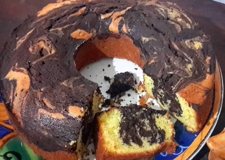 Resep Marble Cake aka Bolu Jadul Dari Maria G. Soemitro