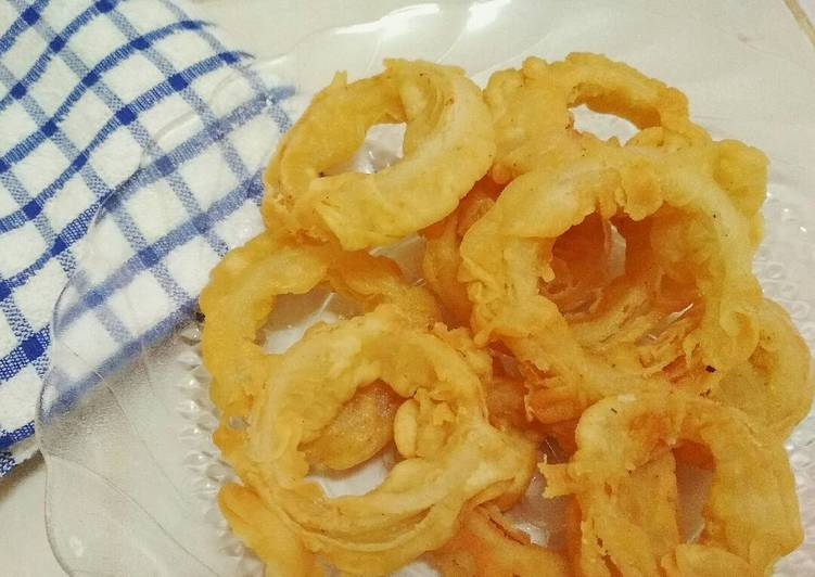 Resep Onion Ring Kriuk Kiriman dari Hutami Putri