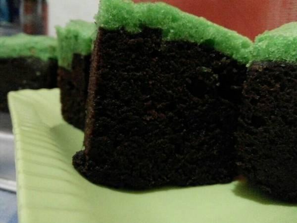 Brownies kukus coklat sarikaya pandan