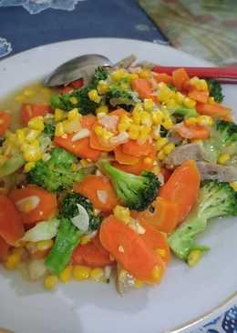 Capcay brokoli wortel jagung
