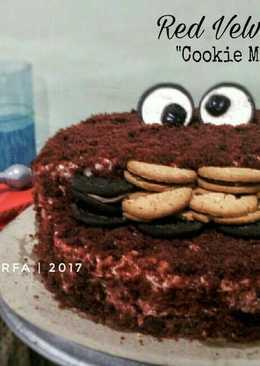 Cookie Monster - Ide Dekorasi Cake yg Rusak Sebagian