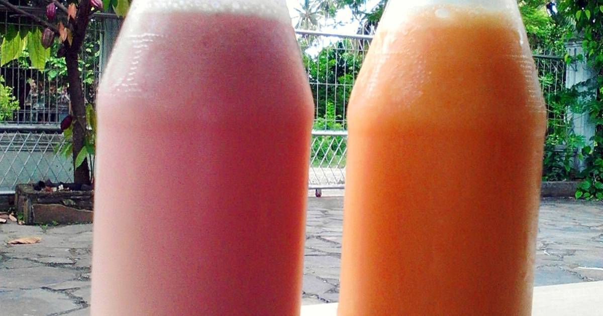 Resep Smoothies StrawberyPisang n Smoothies Manggo