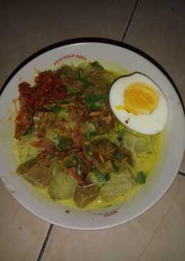 Soto daging santan