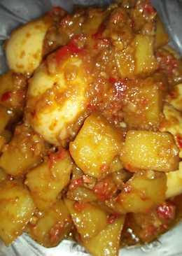 Rendang kentang telor irit, anti ribet, anti lama.. 😂