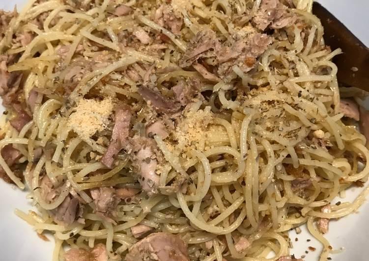 Resep Spaghetti Tuna Aglio Olio Karya shirly amri anis