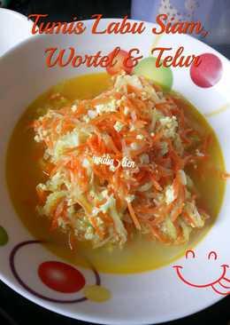 Tumis Labu Siam, Wortel & Telur