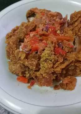 Ayam geprek sambel cikur