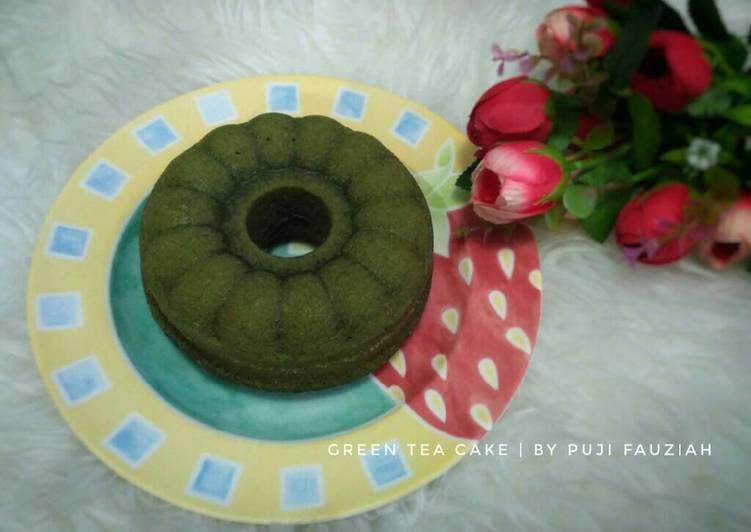 gambar untuk cara membuat Green tea cake irit (3 sdm, no mixer, no oven)