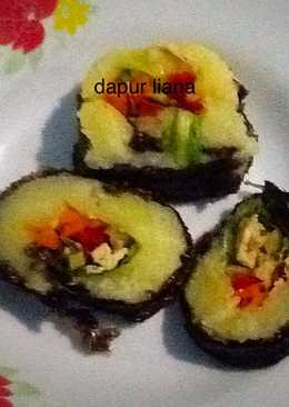 Seaweed potatoes (ala sushi)