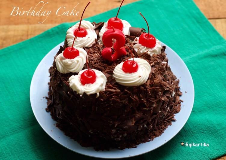 Resep Birthday Cake Cake Coklat Kukus Oleh Fiqikartika Cookpad