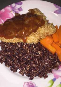 Fish Katsu Oats with Barbecue Sauce