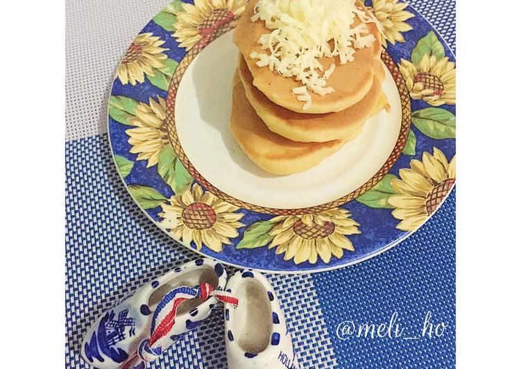 Cheesy Pondan Pancake (MPASI 1y+)