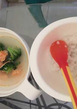 Sup salmon brokoli