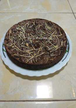 Brownies panggang crunchy dan lembut