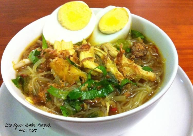 Resep Soto Ayam poyah teri