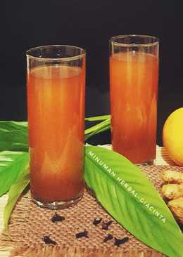 Wedang Jahe minuman herbal anti batuk #PR_RecookMinTradisional