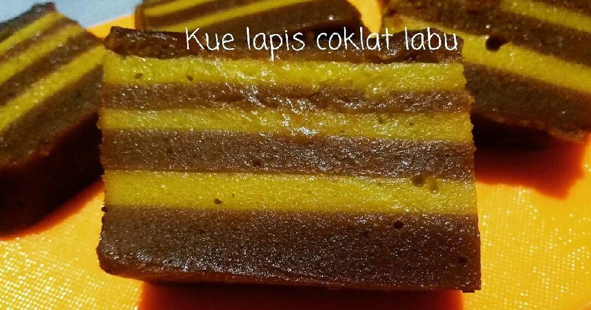 Resep Kue Lapis Coklat Labu