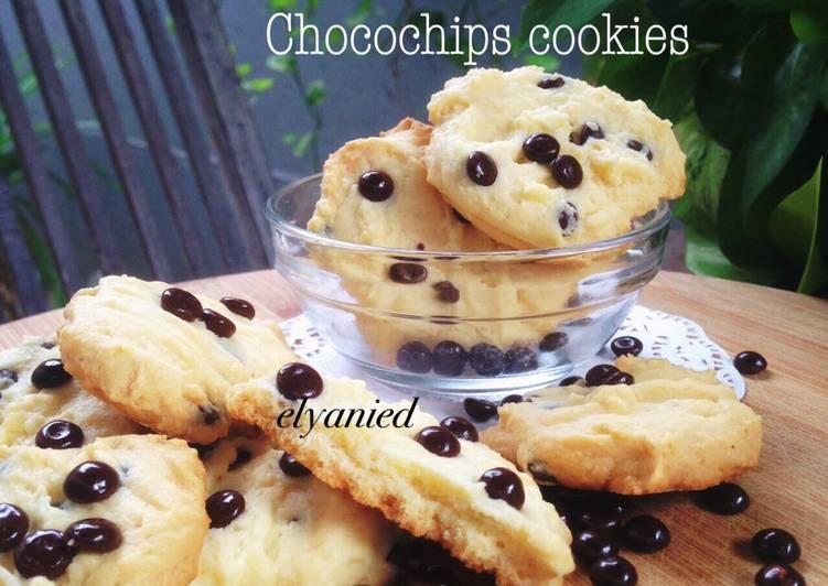 Milky chocochips cookies foto resep utama