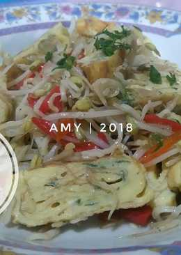 Dadar Telur (tamagoyaki) Cah Toge #diet