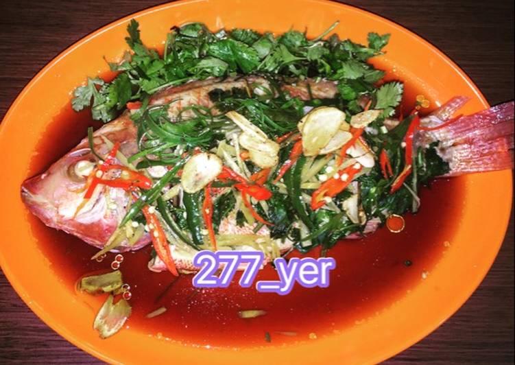 Ikan nila steam ala hongkong
