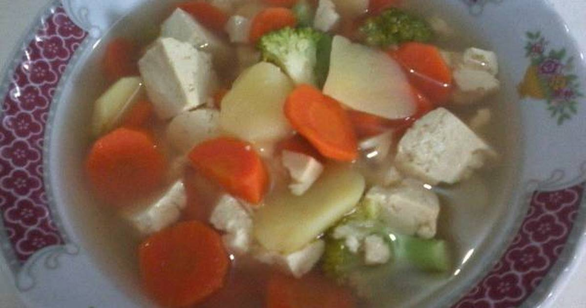 sup tahu kentang   86 resep   cookpad