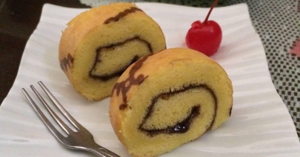 Resep Bolu gulung selai blueberry