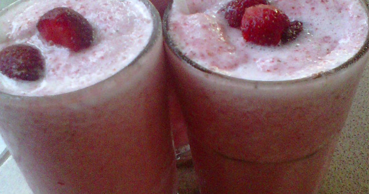 Resep Milkshake Strawberry