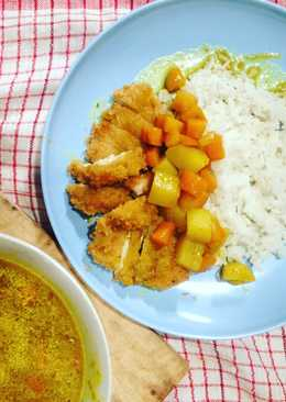 Homemade Chicken Katsu Curry Rice