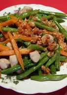 Buncis wortel tumis bakso ikan