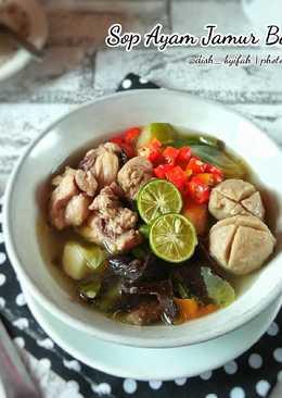 Sop Ayam Jamur Bakso