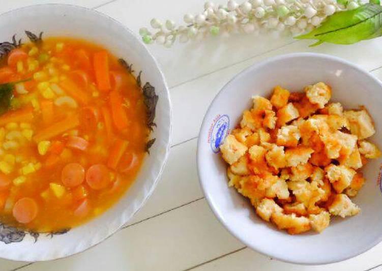 Resep Sup merah + roti udang Oleh JKK kitchen By Fizca
