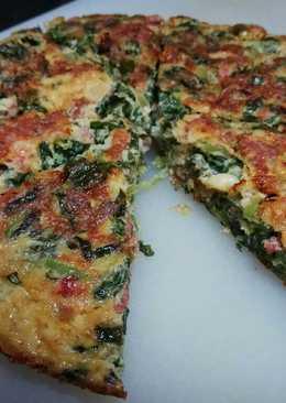 Omelet Bayam dengan Kornet Keju ala Italia