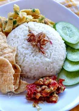 Nasi uduk simple (rice cooker)