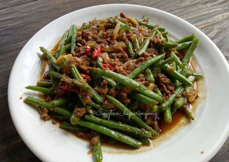 Image result for tumis buncis szechuan