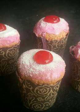 Strawberry Hokkaido Chiffon CupCakeS #Pr_AnekaChiffon