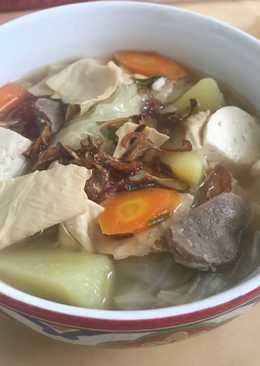Sup kembang tahu bakso
