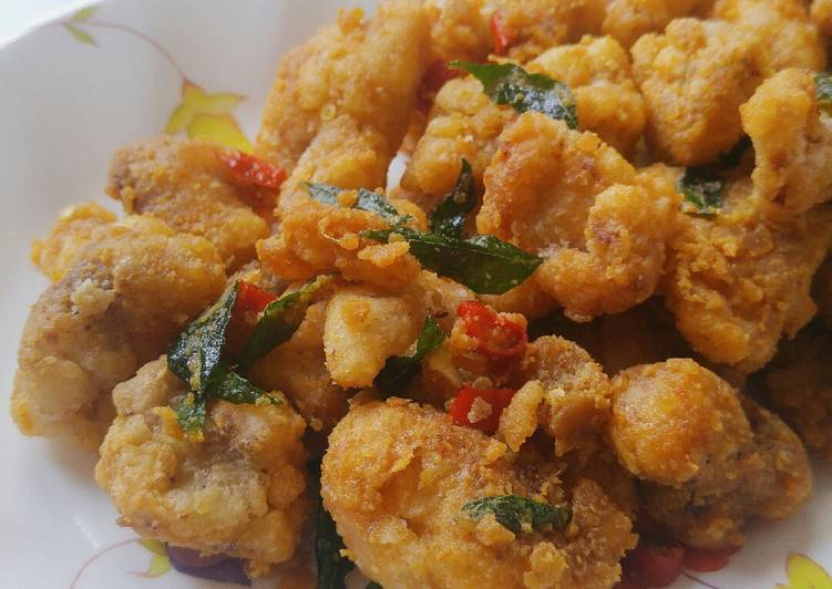 Salted Egg Chicken (Singapore Style)