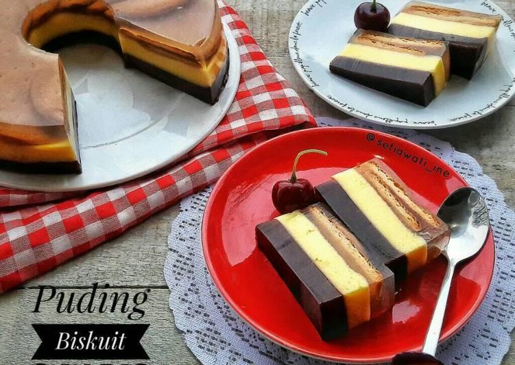 Resep Puding Biskuit 3 Lapis Oleh Ine Setiawati