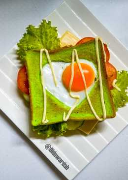 Heart-Shaped Egg Toast Valentine  Roti Bakar Rumahan