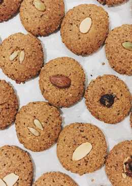 Vegan cookies (gluten free) muesli/oatmeal/eggless cookies