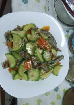 Zuchini witj fish paste/Zuchini dg daging Ikan giling