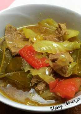 Tongseng sapi tanpa santan, slow cooker