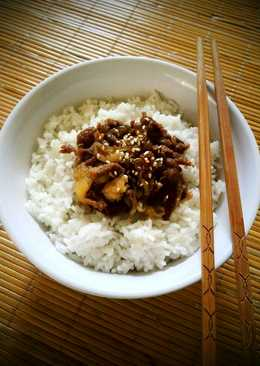 Beef bowl/gyudon