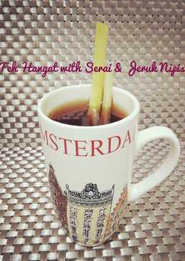 Teh Hangat with Serai & Jeruk Nipis #PR_RecookMantenElise