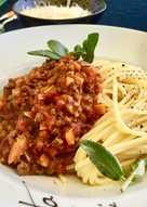 Spaghetti Bolognese-Saus Tomat Home Made