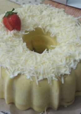 Marmer Cake Kukus Tabur Keju