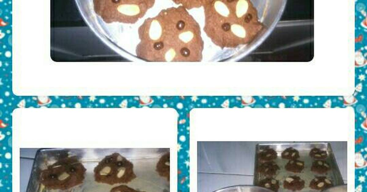 Resep Cookies coklat almond