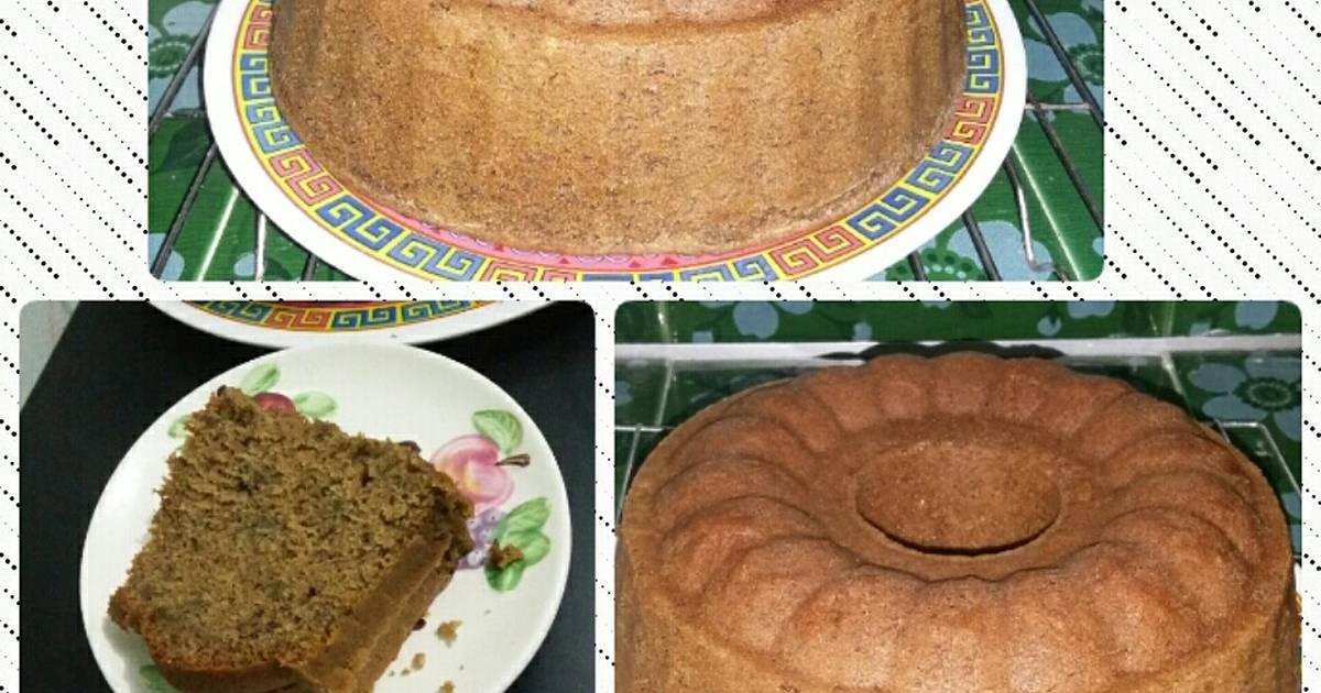 Resep Bolu pisang palem *banana sponge cake modief